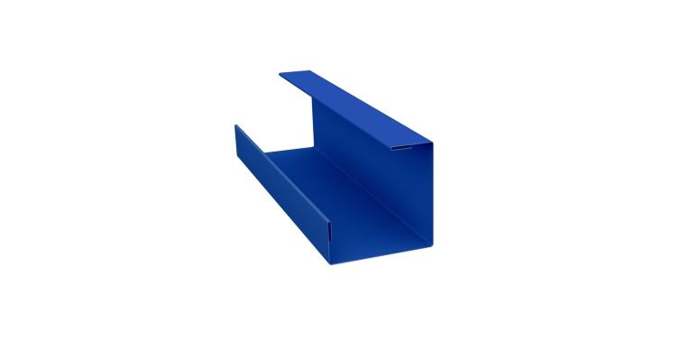 Планка угла внутреннего составная нижняя 0,45 PE с пленкой RAL 5005 сигнальный синий