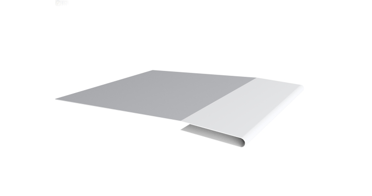 Планка начальная 0,45 PE с пленкой RAL 9003 сигнальный белый