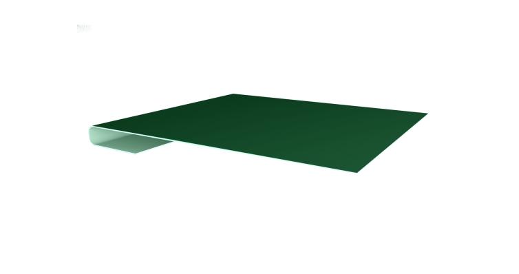 Планка завершающая 0,45 PE с пленкой RAL 6005 зеленый мох