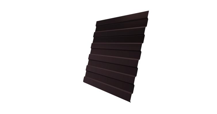 Профнастил С8А Grand Line 0,5 Velur20 с пленкой RAL 8017 шоколад