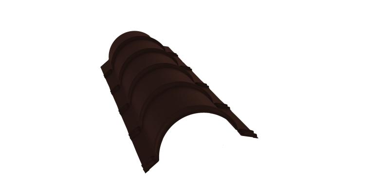 Планка конька полукруглого 0,5 Satin с пленкой RAL 8017 шоколад