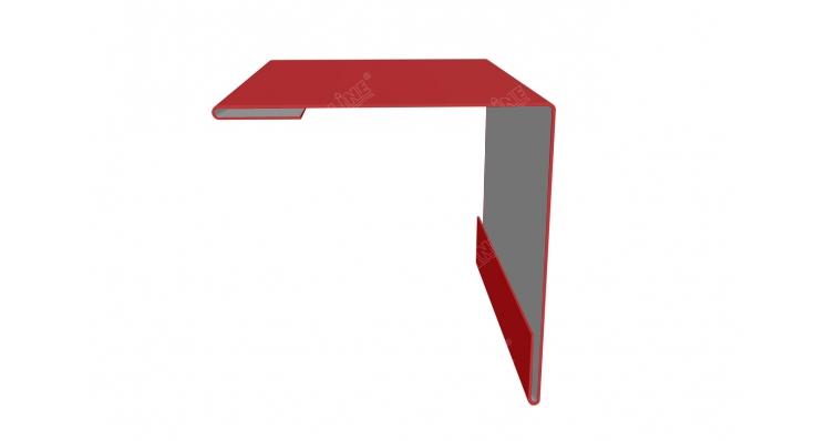 Угол внешний 50х50 0,45 PE с пленкой RAL 3011 коричнево-красный