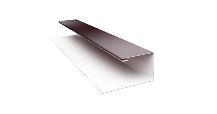 Планка П-образная 0,5 Quarzit с пленкой RAL 8017 шоколад