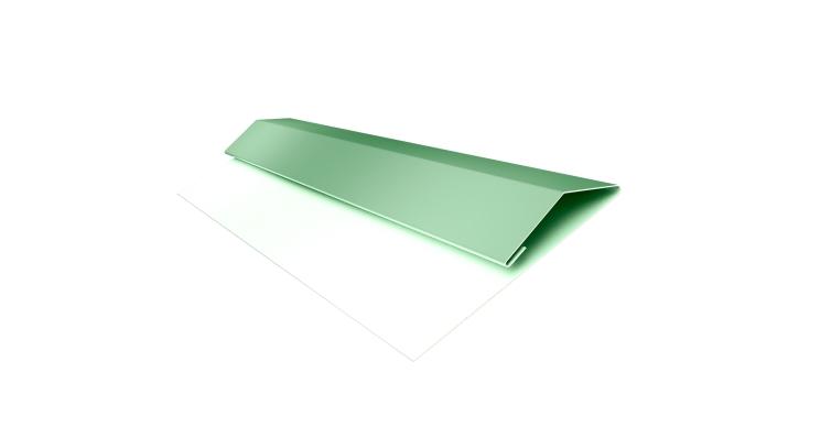 Планка стартово-финишная (Блок-хаус, Экобрус) GL 0,45 PE с пленкой RAL 6019