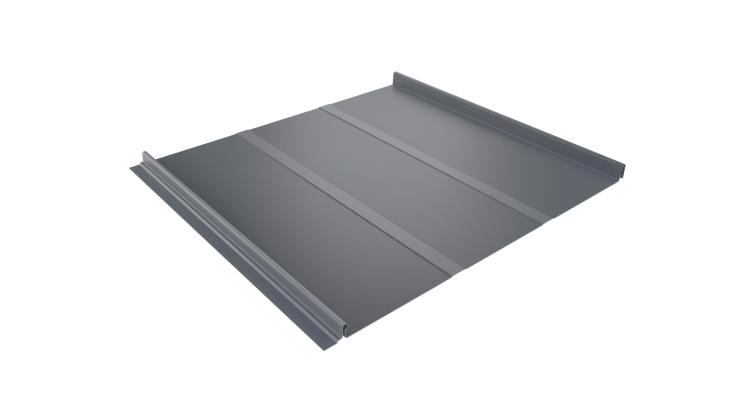Кликфальц Line 0,45 PE с пленкой на замках RAL 9006 бело-алюминиевый