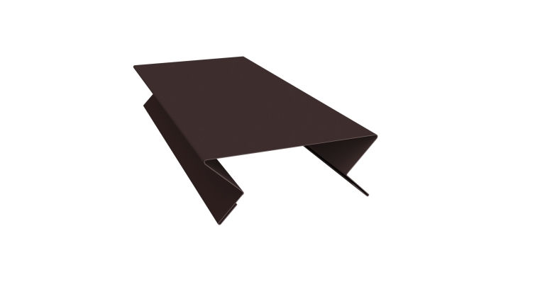 Планка угла внутреннего составная верхняя 0,45 PE с пленкой RAL 8017 шоколад