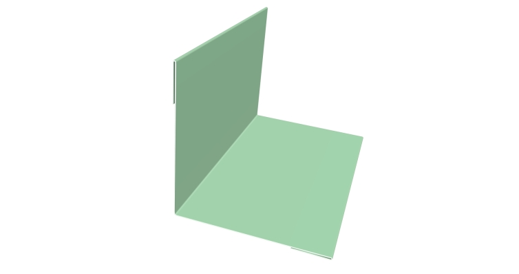 Угол внутренний 50х50 0,45 PE с пленкой 6019 бело-зеленый