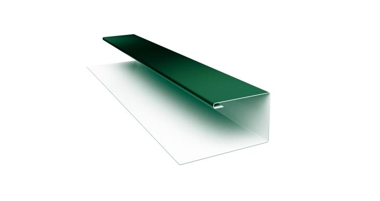 Планка П-образная 0,45 PE с пленкой RAL 6005 зеленый мох