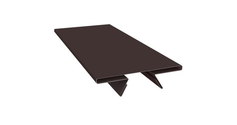 Планка стыковочная составная верхняя 0,45 PE с пленкой RAL 8017 шоколад