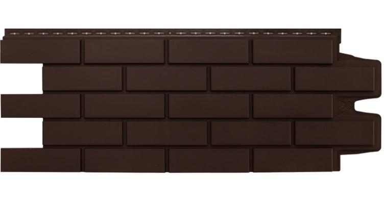 Фасадная панель Grand Line клинкерный кирпич стандарт коричневая