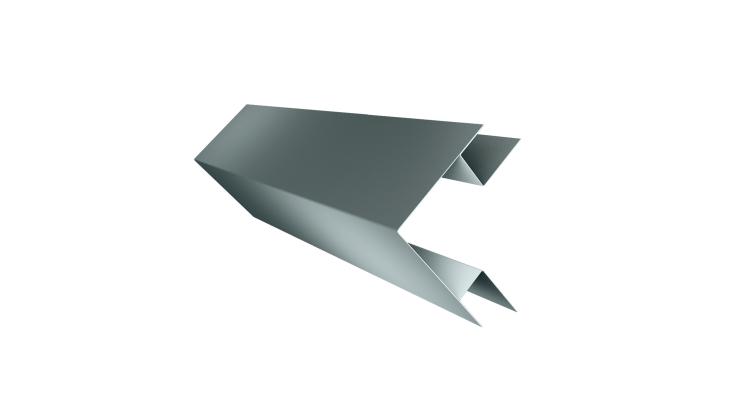 Угол внешний сложный 75х75 0,45 PE с пленкой RAL 7005 мышино-серый