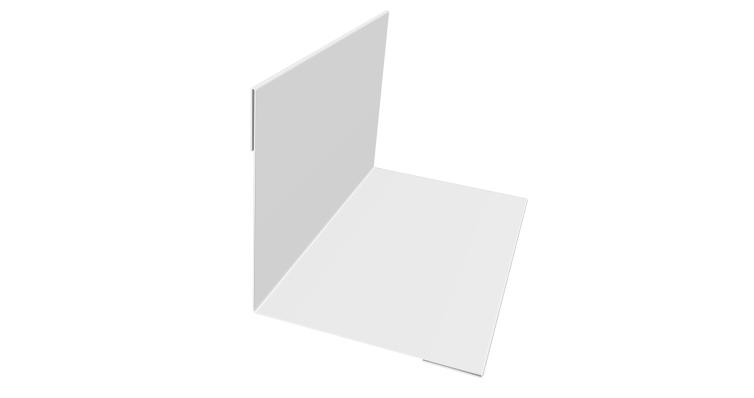 Угол внутренний 50х50 0,7 PE с пленкой RAL 9003 сигнальный белый