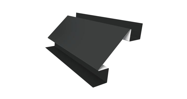 Угол внутренний сложный 75мм 0,45 PE с пленкой RAL 7005 мышино-серый