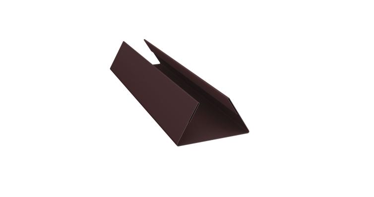 Планка стыковочная составная нижняя 0,45 PE с пленкой RAL 8017 шоколад