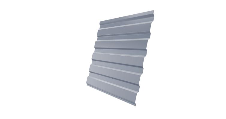 Профнастил С20А 0,45 PE RAL 9006 бело-алюминиевый