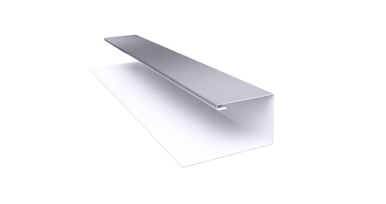 Планка П-образная (Блок-хаус, Экобрус) Grand Line 0,45 PE с пленкой RAL 7004 сигнальный серый