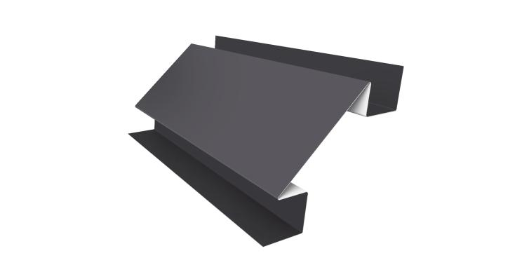Угол внутренний сложный 75мм 0,45 PE с пленкой RAL 7004 сигнальный серый