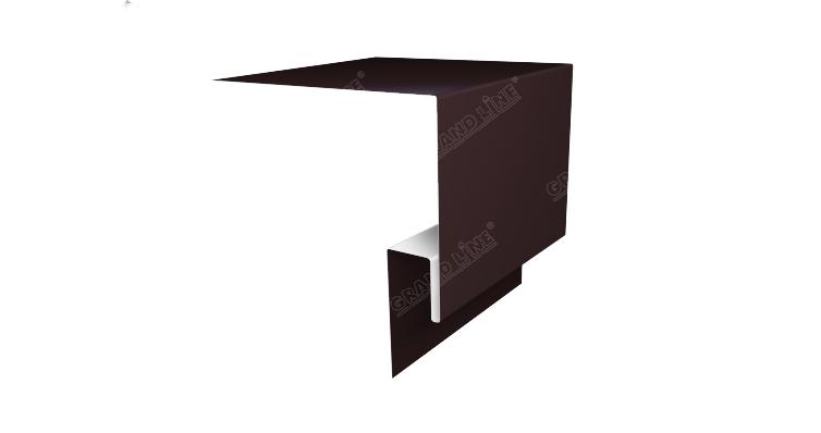 Планка околооконная сложная 200х50х18 (j-фаска) 0,4 PE с пленкой RAL 8017 шоколад