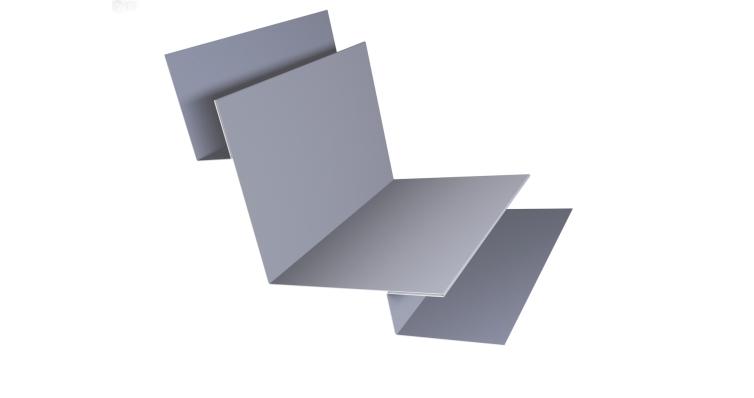 Угол внутренний сложный 90 0,45 PE с пленкой RAL 7004 сигнальный серый