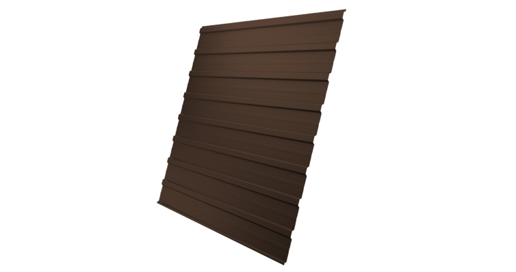 Профнастил С10A 0,4 PE с пленкой RAL 8017 шоколад