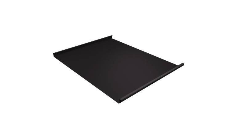 Фальц двойной стоячий Grand Line 0,5 Velur20 с пленкой на замках RR 32 темно-коричневый