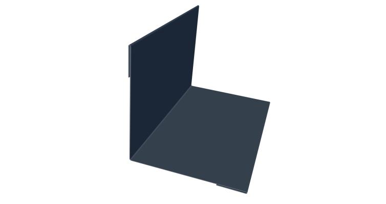 Угол внутренний 50х50 0,45 PE с пленкой 7024 мокрый асфальт