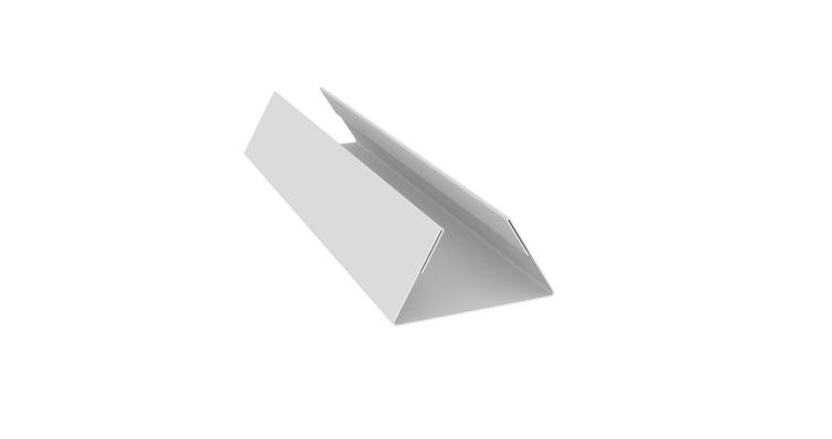 Планка стыковочная составная нижняя 0,45 PE с пленкой RAL 9003 сигнальный белый