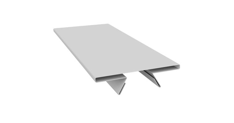 Планка стыковочная составная верхняя 0,45 PE с пленкой RAL 9003 сигнальный белый