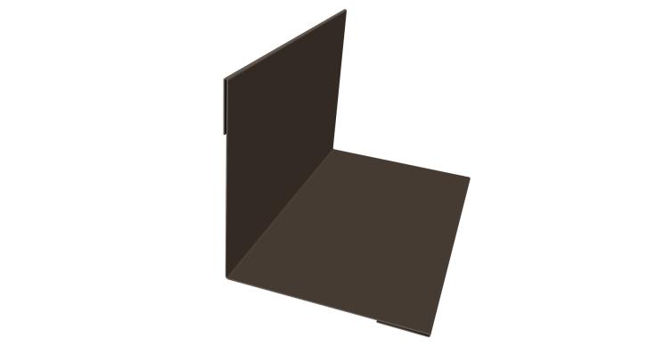 Угол внутренний 50х50 0,45 PE с пленкой RR 32 темно-коричневый