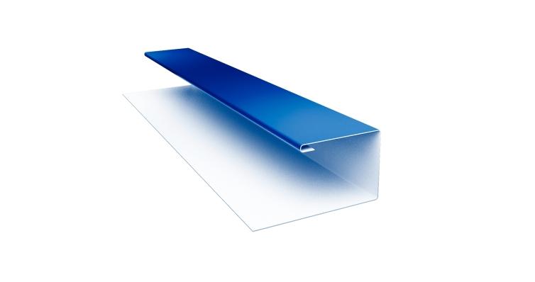 Планка П-образная 0,45 PE с пленкой RAL 5005 сигнальный синий