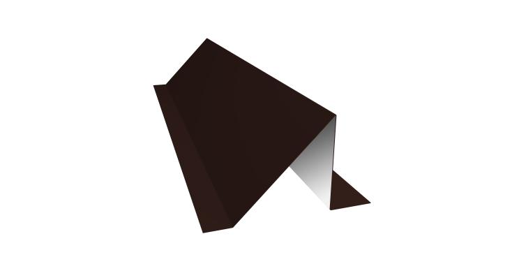 Планка снегозадержания 0,5 Satin с пленкой RAL 8017 шоколад