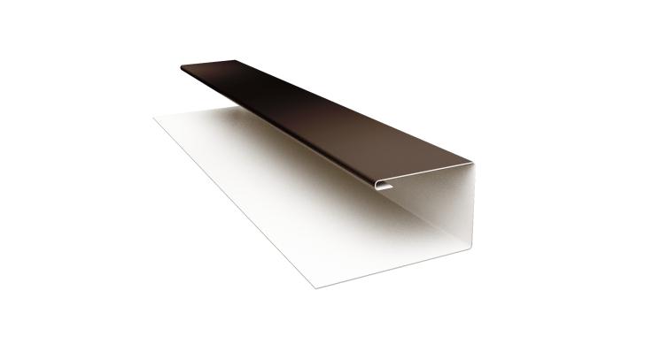 Планка П-образная 0,5 Quarzit с пленкой RR 32 темно-коричневый