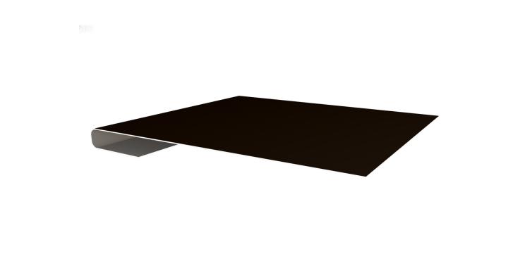 Планка завершающая 0,45 PE с пленкой RR 32 темно-коричневый
