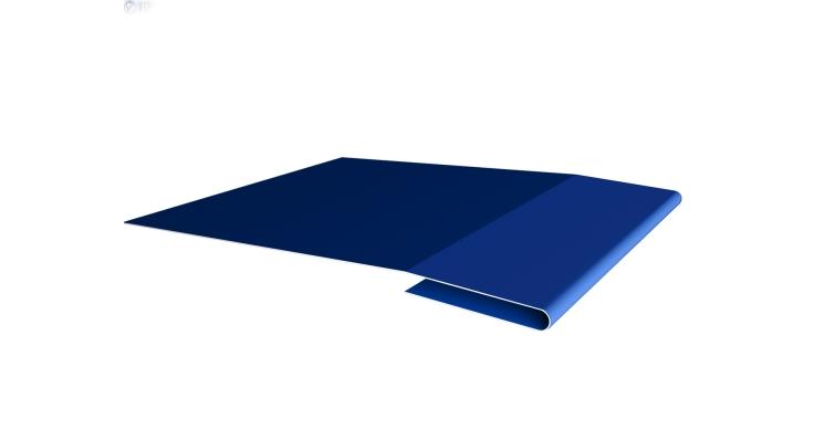 Планка начальная 0,5 Satin с пленкой RAL 5005 сигнальный синий