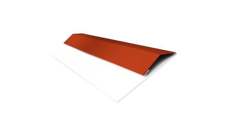 Планка стартово-финишная (Блок-хаус, Экобрус) Grand Line 0,45 PE с пленкой RAL 2004 оранжевый
