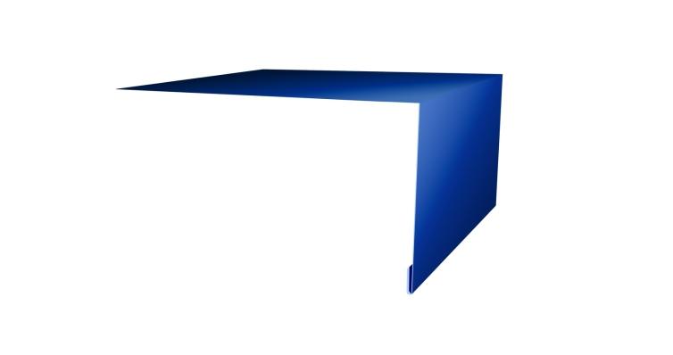 Планка околооконная простая 250х75 0,45 PE с пленкой RAL 5005 сигнальный синий