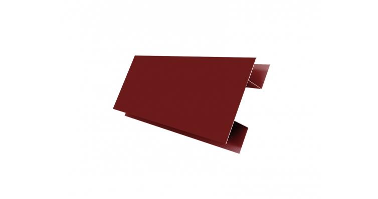 Планка H-образная 0,45 PE с пленкой RAL 3005 красное вино