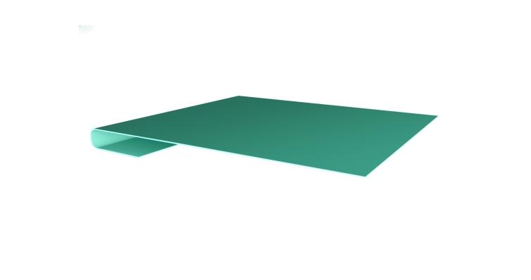 Планка завершающая 0,45 PE с пленкой RAL 5021 водная синь
