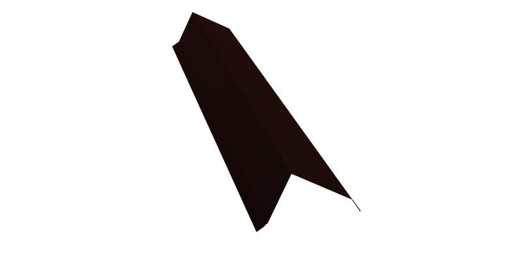 Планка торцевая 80х100 0,5 Satin с пленкой RR 32 темно-коричневый