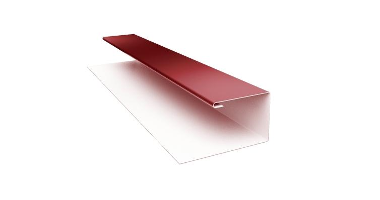 Планка П-образная 0,45 PE с пленкой RAL 3009 оксидно-красный
