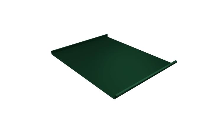 Фальц двойной стоячий 0,7 PE с пленкой на замках RAL 6005 зеленый мох