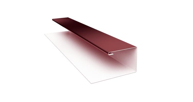 Планка П-образная (Блок-хаус, Экобрус) Grand Line 0,45 PE с пленкой RAL 3005 красное вино