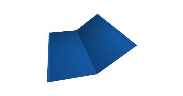 Планка ендовы нижней 300х300 0,5 Satin с пленкой RAL 5005 сигнальный синий