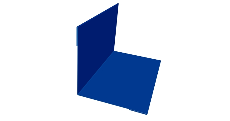 Угол внутренний 30х30 0,45 PE с пленкой RAL 5005 сигнальный синий
