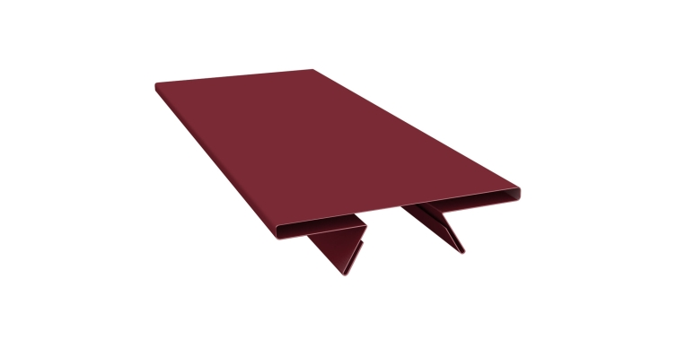 Планка стыковочная составная верхняя 0,45 PE с пленкой RAL 3005 красное вино