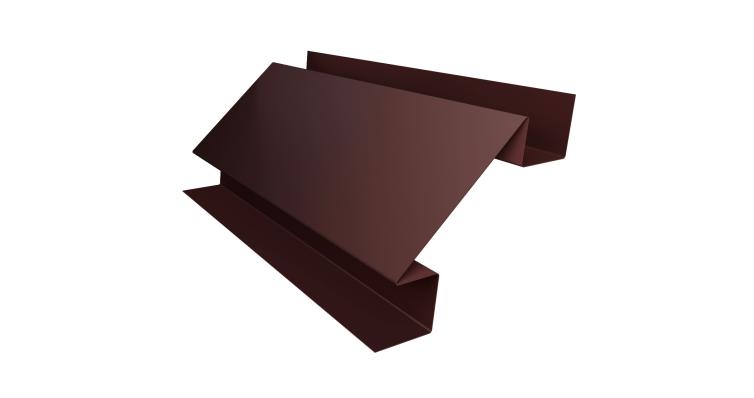 Планка угла внутреннего сложного Экобрус Grand Line 0,45 PE с пленкой RAL 8017 шоколад