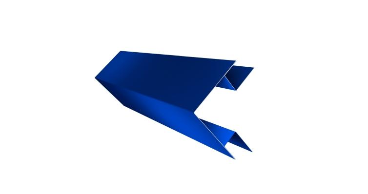 Угол внешний сложный 75х75 0,45 PE с пленкой RAL 5005 сигнальный синий