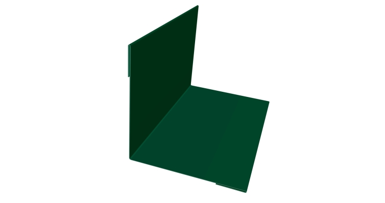 Угол внутренний 110х110 0,4 PE с пленкой RAL 6005 зеленый мох