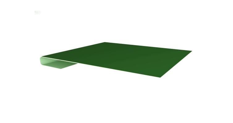 Планка завершающая 0,45 PE с пленкой RAL 6002 лиственно-зеленый