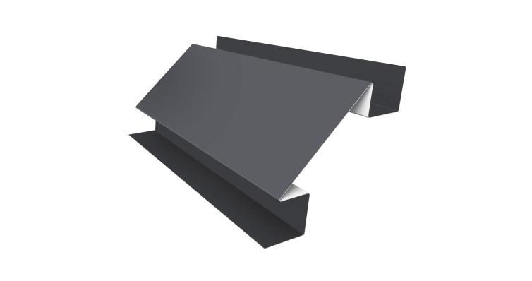 Угол внутренний сложный 75мм 0,45 PE с пленкой RAL 9006 бело-алюминиевый
